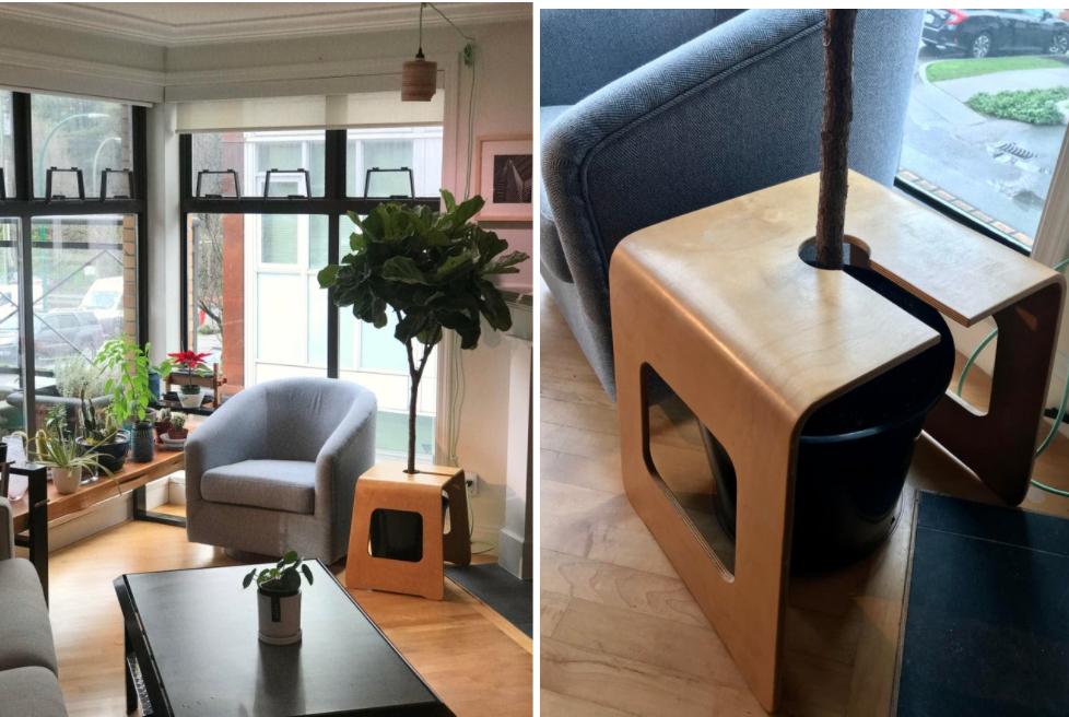 hybrid end table/plant pot Ikea hack